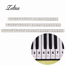 Transparent Electronic Music Keyboard Piano Organ Note Stickers For 49/54 Keys Learner Biginners Practice Piano Accessories(China)