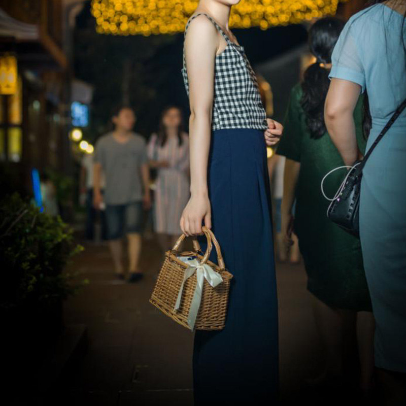 Women Bamboo Beach Bags Summer Female Straw Handbag Bohemian Vintage Rattan Ribbon Holiday Bag Lady Handmade Tote SS3197 (7)