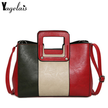 Fashion Patchwork Flap Women Zipper Closer Women Leather Shoulder Bags Handbag Daily Casual Crossbody Casual Tote Women bolsa(China)