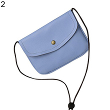 Fashion Simple Cross Body Mini Shoulder Button Faux Leather Bag Women's Gift