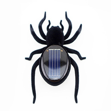 Novelty Creative Gadget Solar Power Robot Insect Car Spider For Children's Christmas Toys Gifts Xmas Festival