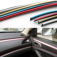 5m Car Interior Decorative Thread Stickers Decals Chrome Styling Trim Strip