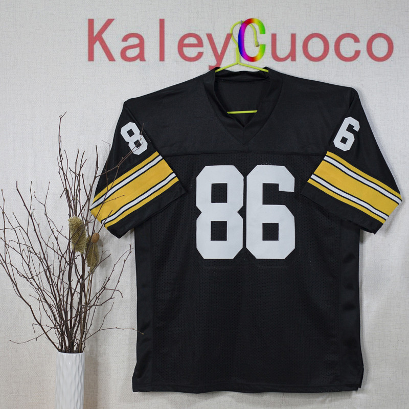 Retro star #86 Hines Ward Embroidered Throwback Football Jersey M&N 48 50 52 54 56 Jerseys(China (Mainland))