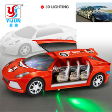New Lamborghini Model Toys with Sound Light Electric Univeral Wheel Toy Car 3D Flashing Music Children Electric Toy Cars(China)