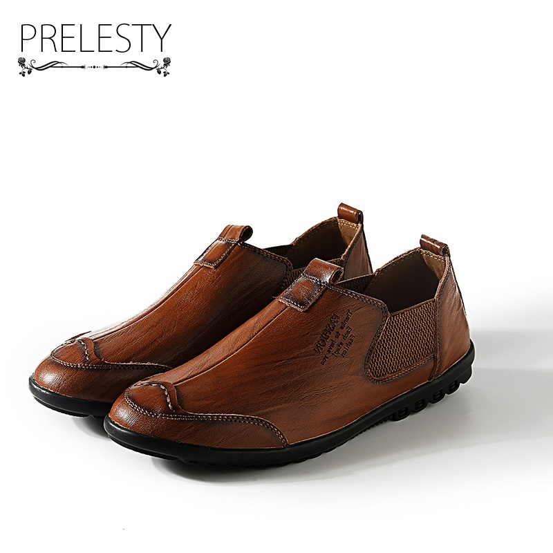 Prelesty Autumn Winter Vintage Style Mens Chelsea Boots Men Shoes Boots Casual Classical Low-Cut Warm Botas Hombre<br>