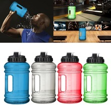 2.2L Big Mouth BPA Free Sport Gym Training Drink Water Bottle Cap Large Capacity Kettle for Outdoor Picnic Bicycle Bike Camping(China)