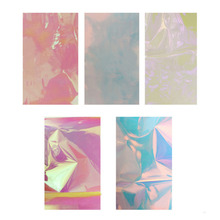 High Quality Aurora Nail Stickers Magic Irregular Glass Manicure Decal Fashion Nail Accessories(China)