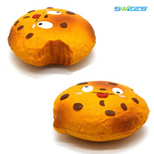 10Pcs/Lot Cute Original Chocolate Cookies Squishy Slow Rising Jumbo Face Emoji Bread Soft Cream Scented Cake Kid Fun Toy Gift
