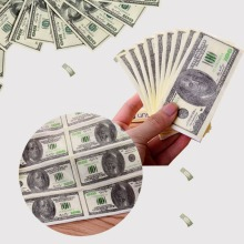 1 pack Money Dollar Paper Napkin Tissue Print Handkerchiefs For Decoration United States Party Event And Christmas Decor