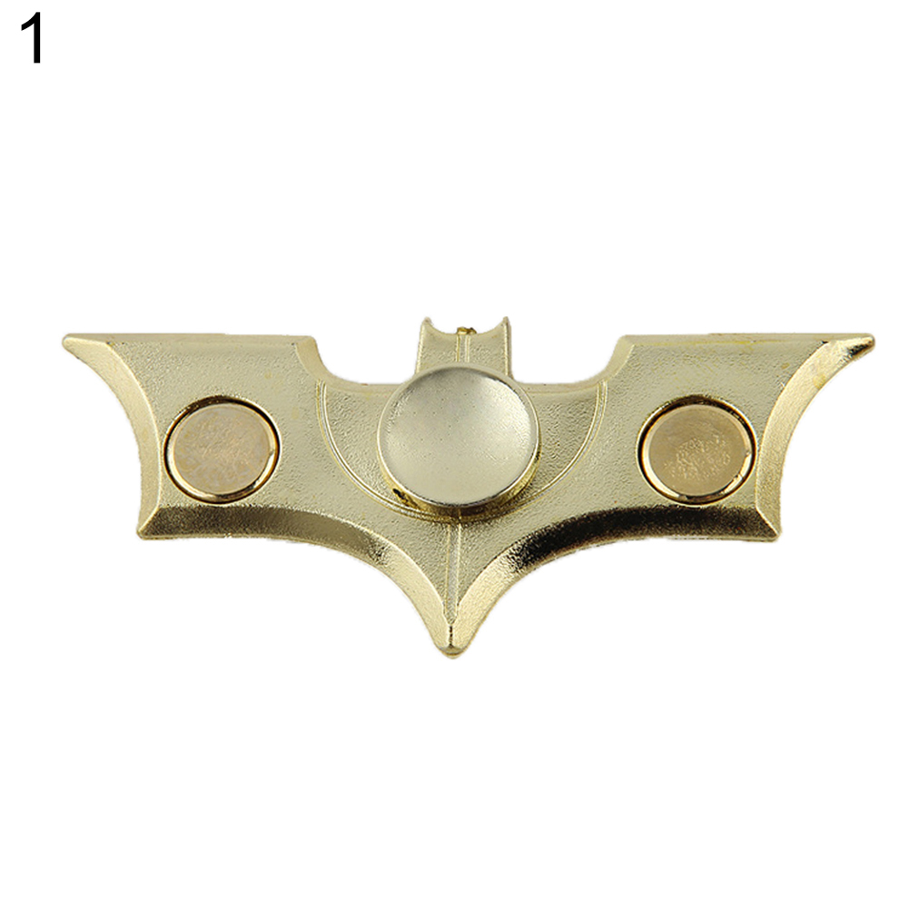 Adult Kids Bat Plane Fidget Tri Hand Spinner Fingertip Gyro Focus EDC Toy Gift