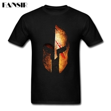 Funny Spartan Greece T-shirt Mens Short Sleeve Cotton Custom Men T Shirt 3XL(China)