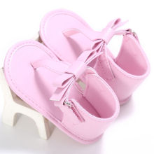 2017 New Baby Bowknot Sandals Infant Girls Soft Sole Shoes 0-18M Summer Sandals Pink Black White