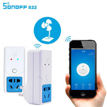 SONOFFS22 Wifi Wireless Socket for Temperature Remote Control Smart Timer Power Supply Switch Smart HomeHumidity Sensor