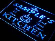 pc-tm Name Personalized Custom Mom Kitchen Bar Neon Sign with On/Off Switch 7 Colors 4 Sizes