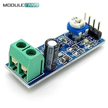 2PCS 200 Times Gain 5V-12V LM386 Audio Amplifier Module 10K Adjustable Resistance 200 Multiplier Speaker Wire Holder