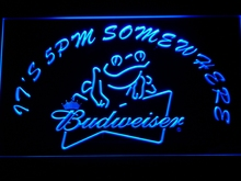 416 It's 5 pm Somewhere budweiser Frog LED Neon Sign
