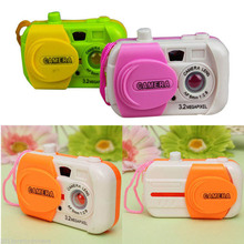 Color Ranom Camera Toy Projection Simulation Kids Digital Camera Toy Take Photo Children Educational Plastic Gift For Baby(China)