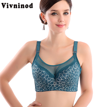 Buy Women Sexy bralette big size lace underwear Push bras,e 80 85 90 95 100 B C D Intimates Female Bra Tops lingerie Full Cup Bra