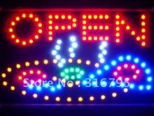 led141-r Pizza Shop OPEN Cafe Led Neon Sign WhiteBoard Wholesale Dropshipping(China)