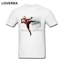 Female Titan Attack On Titans Male TShirt O-Neck Super Size Men T-Shirt Cotton Short Sleeve Man Tee Shirt Summer Brand Clothing(China)