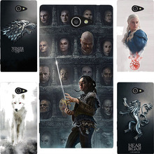 Buy Fashion GOT Game Throne House Stark Hard PC Painting CaseFor Sony Xperia M2 Aqua S50h D2303 D2305 D2306 Cell Phone Print Case for $2.13 in AliExpress store