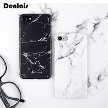 Fashion Marble Phone Case For iPhone 7 For iPhone 6 6s 6Plus 7Plus Case Black White Soft Gel TPU Silicone Case Back Cover Coque(China)