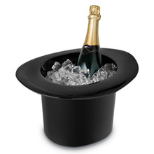 Top Hat Cap Shape Acrylic Ice Bucket 4L Champagne Wine Bottle Drinking Cooler Holder Ice Cube Storage Container Barware Supplies