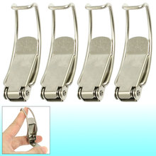 UXCELL Box Chest Case Spring Loaded Silver Tone Draw Toggle Latch 4 Pcs(China)