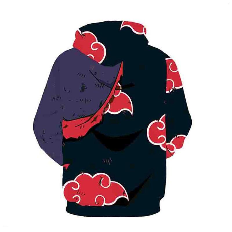 Coshome Naruto 3D Hoodies Anime Boruto Akatsuki Jacket Uchiha Itach Cosplay Costumes Kakashi Sweatshirt Men (8)