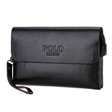 POLO Brand Men Wallets Clutch Bags Business Wallet Leisure Large Capacity Soft leather Purse Male Handy Bags Free shipping