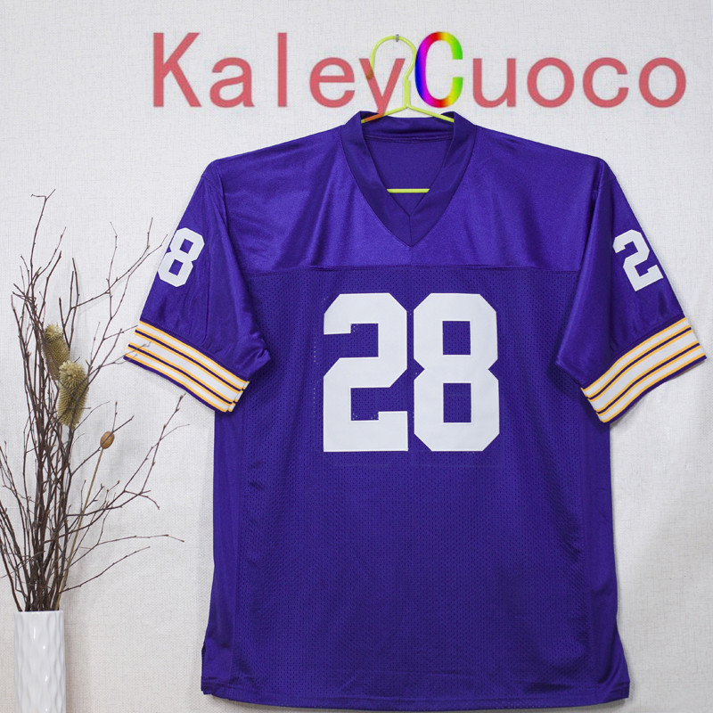 Retro star #28 Adrian Peterson Embroidered Throwback Football Jersey M&N 48 50 52 54 56 Jerseys(China (Mainland))