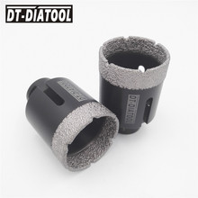 "2pcs 2"" 51MM Dry Diamond drilling core bits Vacuum brazed Tech 5/8-11 female thread Drill bits hole saw for tile marble granite(China)"