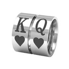 Fashion King Queen Couple Ring Anniversary Wedding Promise Ring Jewelry Gift(China)