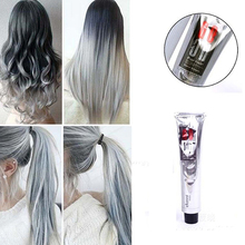1Pc 100Ml Fashion Light Gray Color Natural Permanent Super Hair Dye Cream(China)