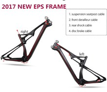 Chinese Manufacturer 2017 NEW 29er Full Suspension MTB Carbon Mountain bike Frame Carbon Bike Parts Frame MTB Carbon 29er(China)