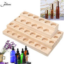 30 Hole 5ml - 15ml Bottles Handmade Natural Pine Wood Jewelry Display Stand Rack Essential Oil Wooden Tray Demonstration Station