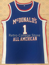 TRACY McGRADY #1 Dolphins McDonald ALL AMERICAN high quality basketball jersey Retro throwback Cheap menswear