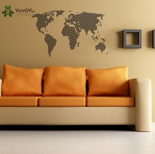 Wall Decal Vinyl Sticker World Map Home House Decoration Houseware Wall Art Design Mural Poster Removable Modern Interior WW-366