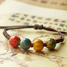 Vintage Beads Bracelet Handmade Woven Elegant Bracelets & Bangles For Women Men Jewelry Fashion Accessory(China)