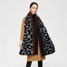 New Europe Luxury Brand Scarf Fashion Floral Leopard Printed Women Pashmina Warm Winter Shawl Scarf