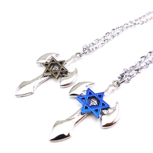 Classic Men Cross Pendant Necklace Stainless Steel Link Chain Necklace Statement Jewelry(China)