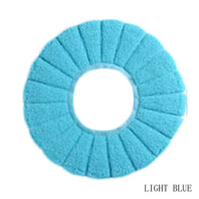 FancyQbue Coral Velvet Warm and Comfortable Toilet Seat Cover for Bathroom Pumpkin Pattern Cushion Pads(China)