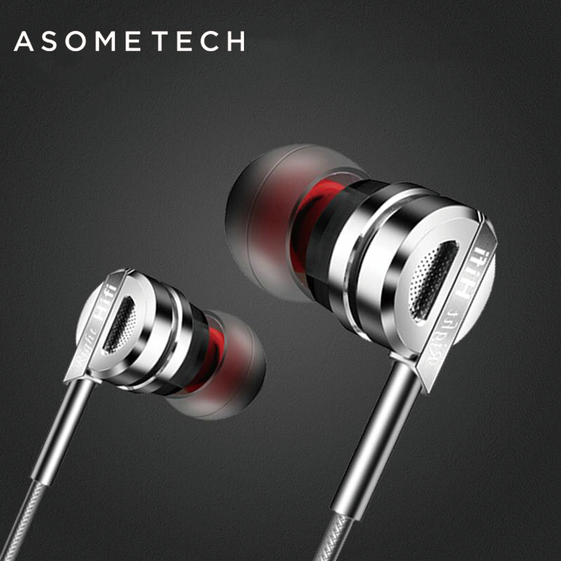 ASOMETECH 3.5mm Sport Wireles Earphone iPhone XiaoMi Mi6 Xiomi Headset D50 Earphones Stereo Earbuds MP3 Mi Band 2 Microphone