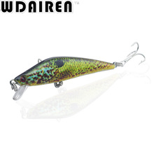 1PC 8cm 8.2g Floating Minnow Fishing Lure Artificial Hard Bait plastic lures river bass pike fish Wobbler Crankbait Pesca WD-41(China)