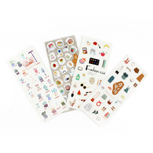 1 Pcs Cute Kawaii Mini Animal Plant Transparent Korean Stickers Papers Flakes Kids Decorative School Stationery Supplies