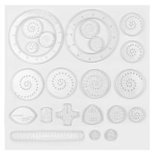 PKR 27.11  37%OFF | Spirograph Drawing Set  Interlocking Gears Wheels Accessories Painting Learning Ruler Pen Educational Toys Children Drawing Toys