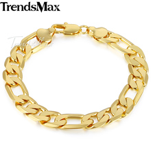 Trendsmax Gold Color Mens Bracelet Figaro Chain Wholesale Fashion Jewelry 6/9/12mm GB365(Hong Kong)