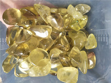 100g natural citrine crystal gravel stone polished citrine quartz stone healing for gift(China)