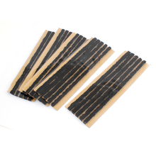 X Autohaux 25 Pcs Scooter Bike Automotive Motorcycle Tubeless Tyre Repair Rubber Strip Black(China)