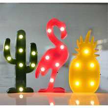 Decorative Flamingo Lamp Pineapple Table Lamp Cactus NightLight Marquee LED Night light Home Christmas Party Decor P30